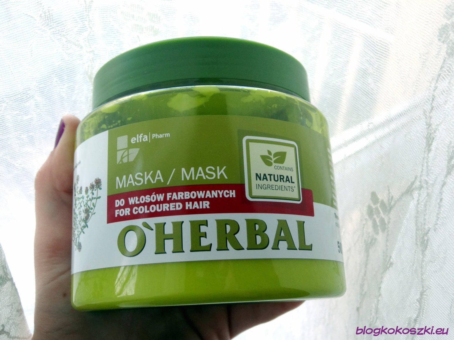 Maska Oherbal Do Włosów Farbowanych Z Ekstraktem Z Tymianku